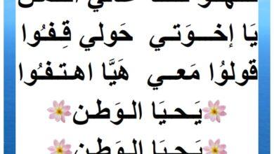 Photo of أنشودة – محفوظات : يحيا الوطن