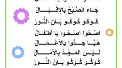 صورة انشودة – محفوظات صاح الديك