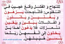Photo of معلقات : أقوال عن النجاح و الفشل