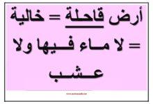 صورة معلقات لغة عربية : عبارات و أوصاف مختلفة