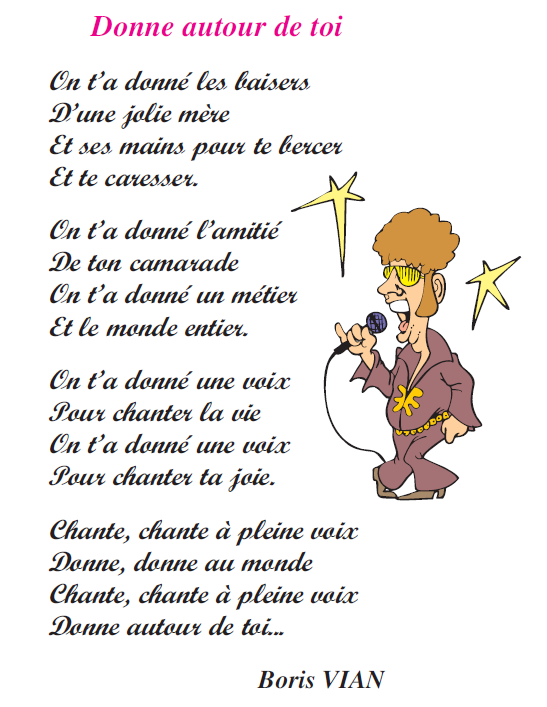 صورة Poème donne autour de toi livre de lecture 6 ème