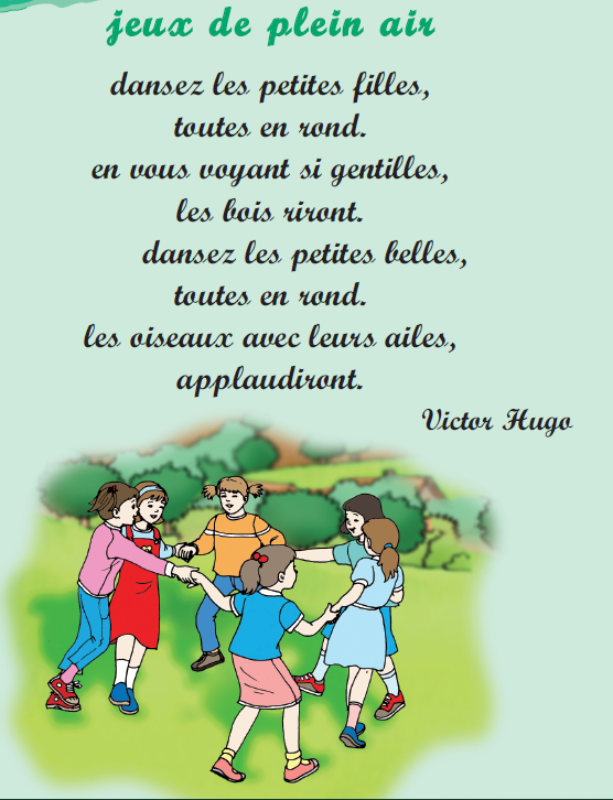 Poème jeux de plein air livre de lecture 3 ème