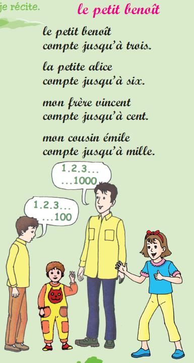 Poème le petit benoît livre de lecture 3 ème année