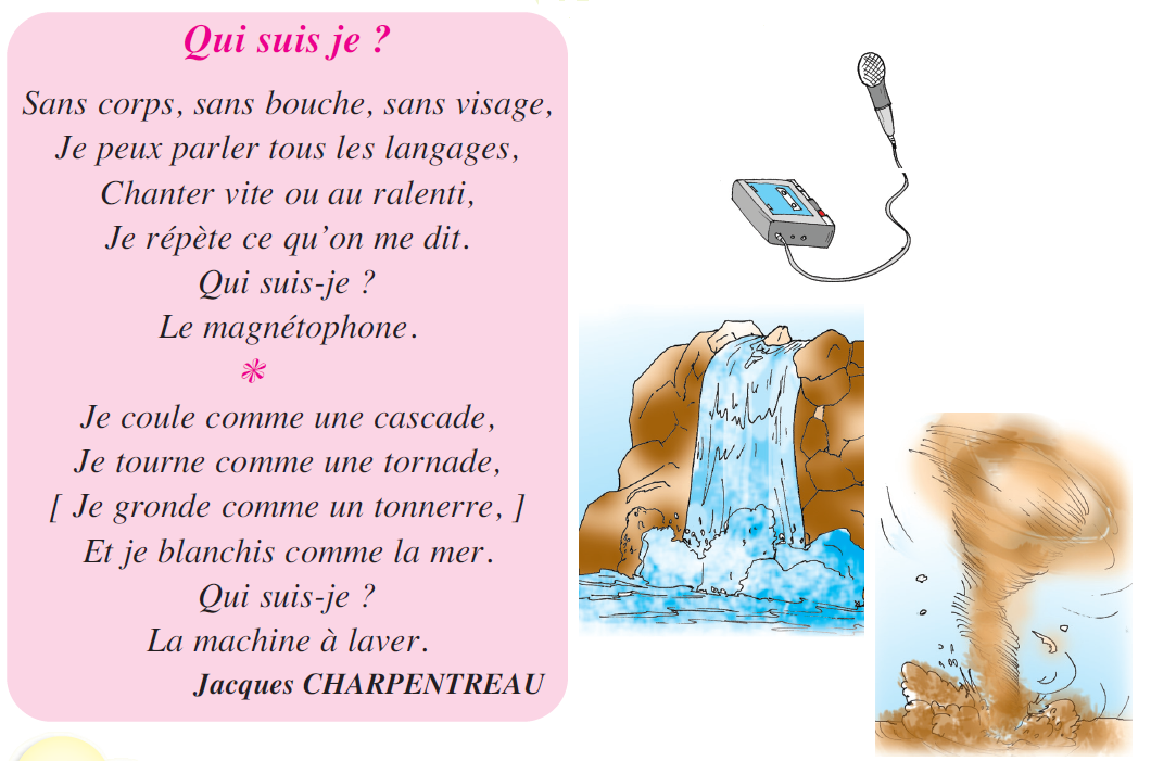 صورة Poème qui suis je ? livre de lecture 5 ème