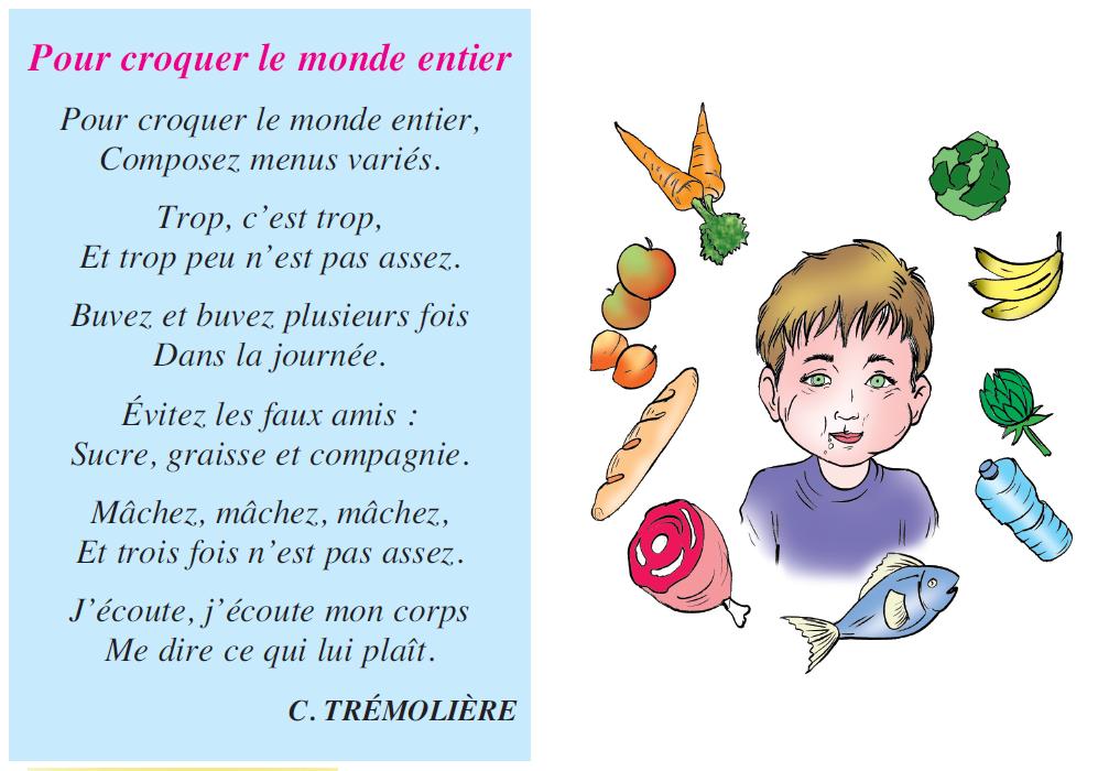 Poème pour croquer le monde entier livre de lecture 5 ème