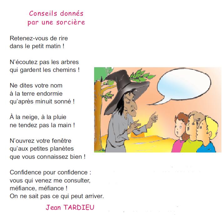 poème conseils donnés par une sorcière  4 ème   madrassatii com