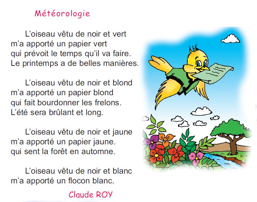poème météorologie 4 ème madrassatii com