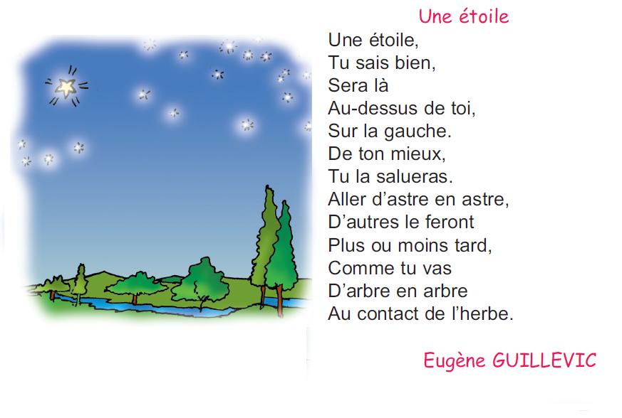 poème une étoile 4 ème  madrassatii com