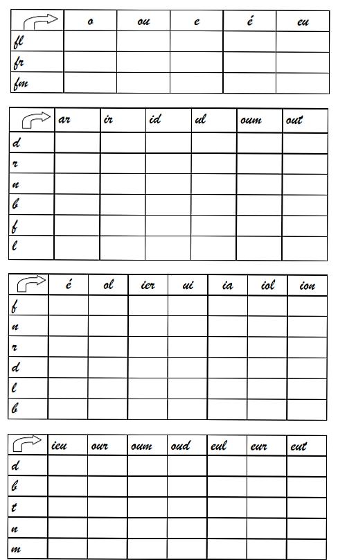 complétez le tableau  exercices pour les éléves de 3 eme année _001