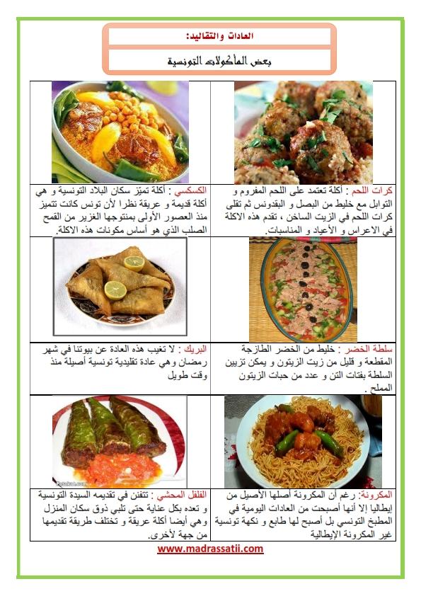 العادات و التقاليد بعض المأكولات التونسية موقع مدرستي كوم_001