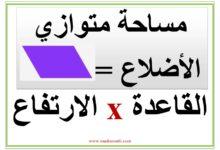 Photo of معلقات : قانون المساحات