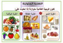 Photo of معلقات : التغذية الصحية و المتوازنة – أغذية الطاقة و النمو و الوقاية