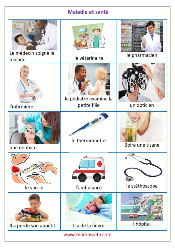 vocabulaire maladie et santé madrassatii com_001
