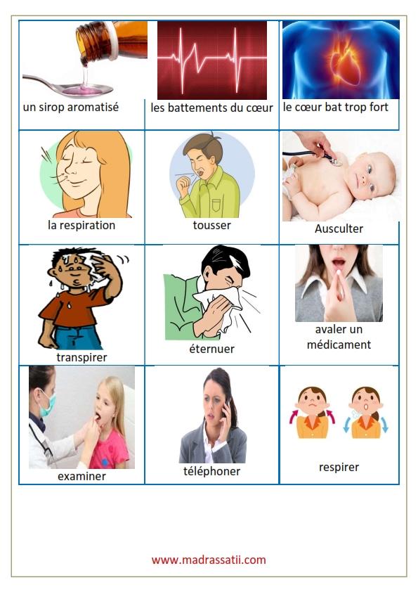 vocabulaire maladie et santé madrassatii com_002