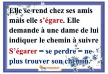 """Photo of """" vocabulaire le mot """" s'égarer"""
