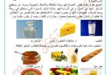 صورة التغذية عند الانسان : الوجبات الغذائية و مواعيدها