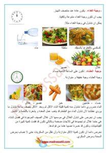 التغذية عند الانسان الوجبات الغذائية و مواعيدها موقع مدرستي
