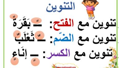 Photo of حركات الشكل في اللغة العربية : الفتحة ، الكسرة ن الضمة ، التنوين …