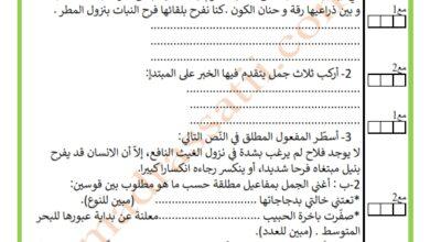 صورة دعم قواعد اللغة السنة السادسة السداسي الأول
