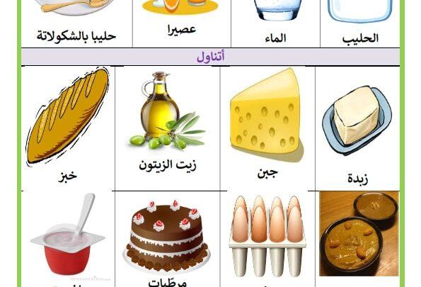 الأغذية : الوجبات الغذائية الرئيسية : فطور الصباح ، الغداء ...