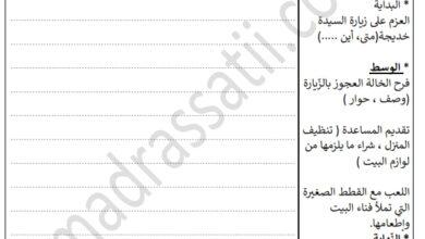 صورة تقييم السداسي الثاني رقم 2  في مادة الانتاج الكتابي السنة الرابعة