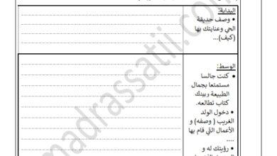 Photo of تقييم السداسي الثاني في مادة الانتاج الكتابي السنة الرابعة