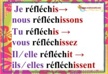 """Photo of Conjugaison des verbes avec """"ir""""  salir finir réfléchir finir choisir au présent"""