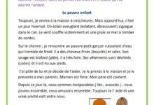 صورة Le pauvre enfant –   Production écrite
