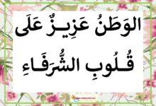 Photo of معلقات : حب الوطن – بمناسبة ذكرى عيد الشهداء