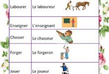 Photo of le verbe et son nom