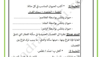Photo of تقييم السداسي الثاني في مادة الايقاظ العلمي السنة الرابعة