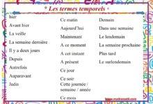 Photo of Les termes temporels
