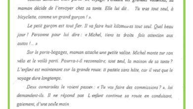 Photo of Examen de lecture compréhension 3 ème trimestre 6 ème année – texte :un grand voyage
