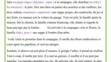 Photo of Production écrite le pique-nique et l'accident d'Alain