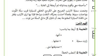 Photo of تقييم السداسي الثاني السنة الاولى مادة القراءة  سمية و الأرنب الجريح