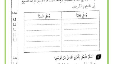 Photo of امتحان الثلاثي الثاني – قواعد لغة – السنة الثالثة