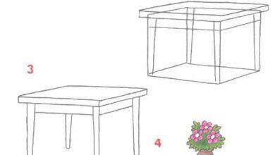 Photo of تعليم الرسم للأطفال خطوة خطوة : رسم الأثاث و الأشياء