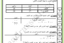 صورة تقييم الثلاثي الأول في مادة الرياضيات – السنة الثانية