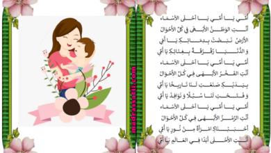 Photo of أنشودة أمي يا أحلى الأسماء