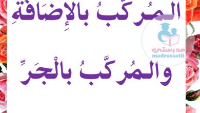 Photo of المركّب بالإضافة و المركّب بالجر – معلقات قواعد اللغة للسنة 5