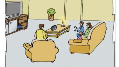 Photo of كانت العائلة تتابع برنامجا تلفزيا فجأة انقطع التيار الكهربائي – تواصل شفوي – السنة الثانية الثلاثي الثاني