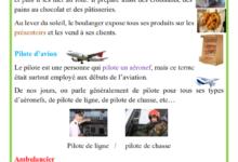 Photo of Les métiers de boulanger, pilote d'avion et ambulancier production