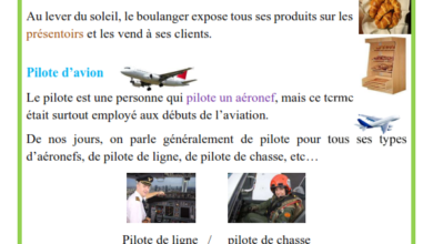 صورة Les métiers de boulanger, pilote d'avion et ambulancier production