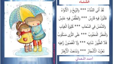 صورة أنشودة الشتاء أحمد اللغماني – السنة الاولى