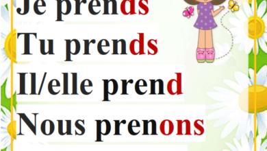 Photo of affichage conjugaison des verbes prendre apprendre et comprendre au présent et au passé composé