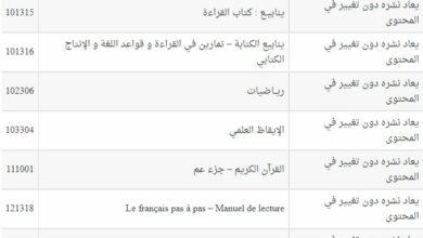 Photo of القائمة الرسمية للكتب المدرسية لسنة 2019-2020