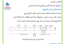 صورة الزمن التاريخي و الوثائق التاريخية تاريخ السنة الخامسة الثلاثي الأول