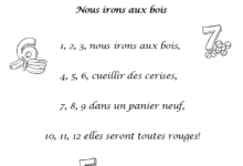 صورة Chanson 1 2 3 nous irons aux bois