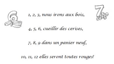 Photo of Chanson 1 2 3 nous irons aux bois