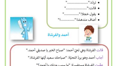 صورة الافعال الدالة على القول – الانتاج الكتابي لتلاميذ السنة 3